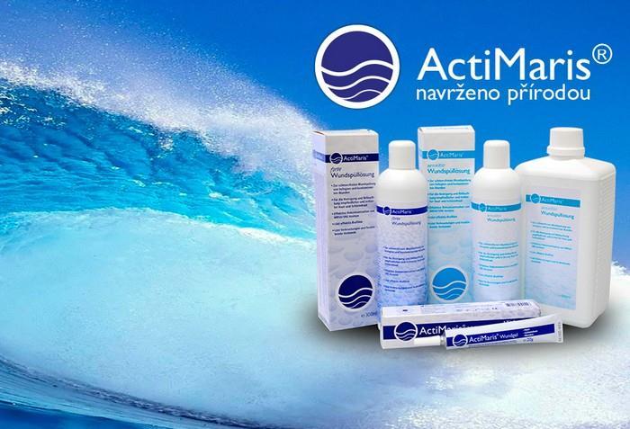 Gel a roztoky ActiMaris s mořskou solí, ionizovanou vodou a aktivním kyslíkem
