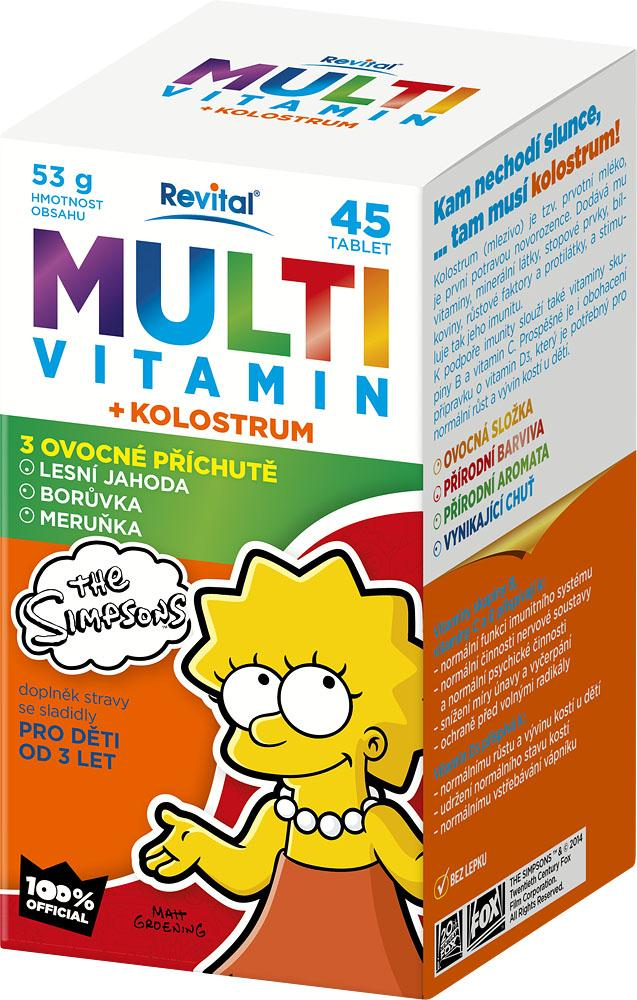 Multivitaminy + kolostrum z řady The Simpsons