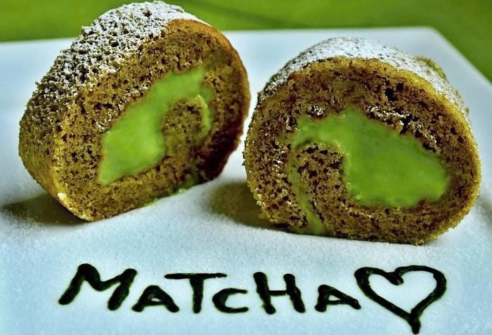Skvělý recept na roládu z Matcha Tea