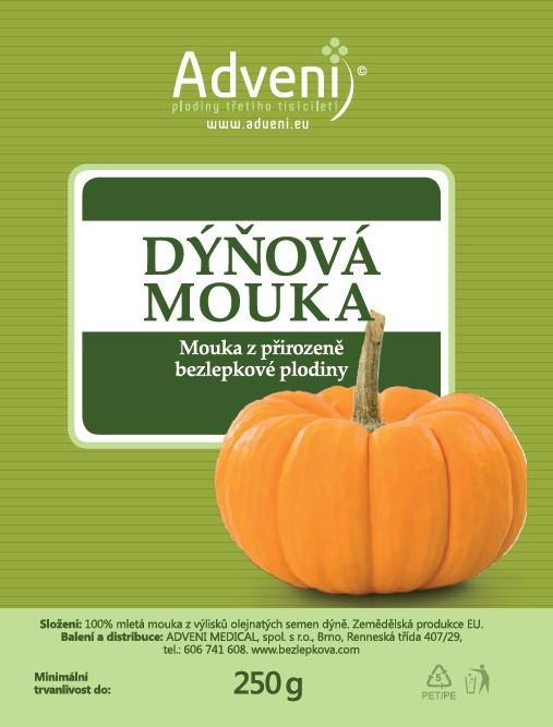 Dýňová mouka - mouka z přirozeně bezlepkové plodiny