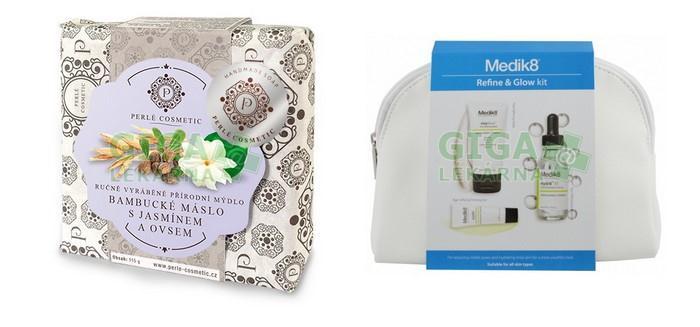 Sada přírodních mýdel a balíček kosmetiky Medik 8