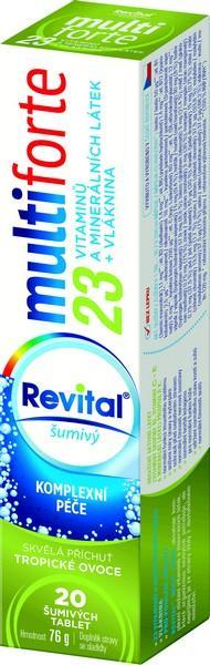 Revital MultiForte ve dvou variantách s 10 nebo 23 vitamíny a minerály