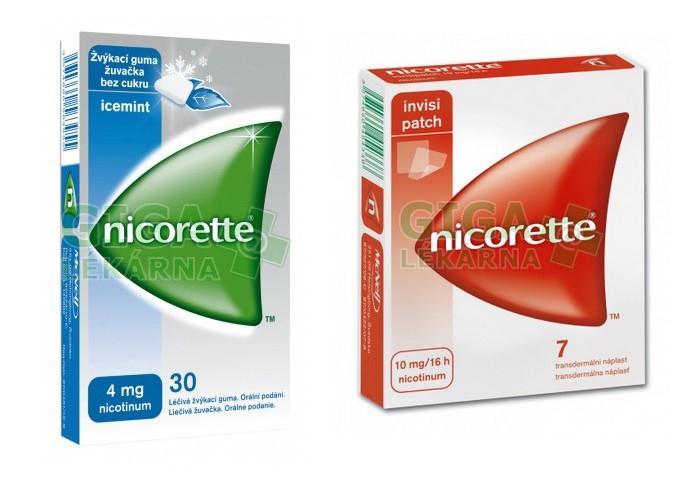 Nicorette žvýkačky a náplasti