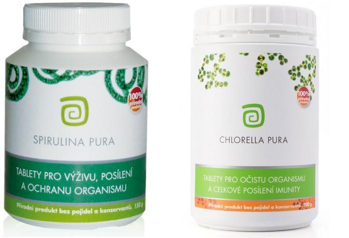 100% přírodní tablety Chlorella pura