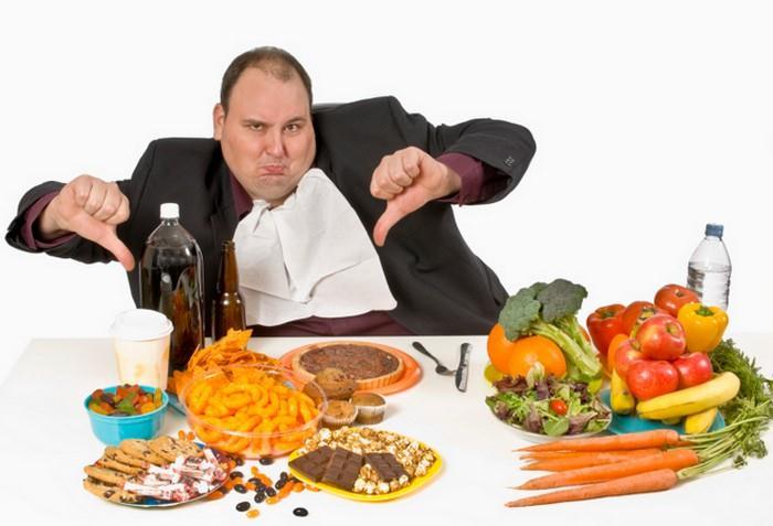 špatná a zdravá strava
