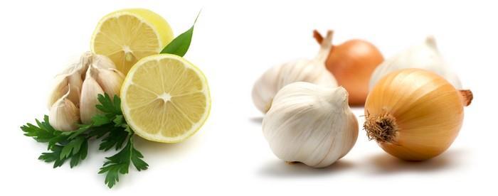 Citron, cibule, česnek