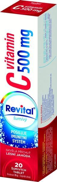 Šumivé tablety Revital s příchutí lesní jahody