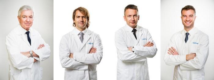 Zkušení profesionálové doc. MUDr. Jan Měšťák, CSc., MUDr. Libor Kment, MUDr. Karel Urban a MUDr. Ondřej Měšťák, Ph.D.